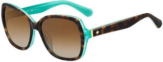 Kate Spade Karalyns Square Two-Tone Sunglasses