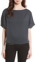 Milly Women's Dolman Sleeve Stretch Silk Top