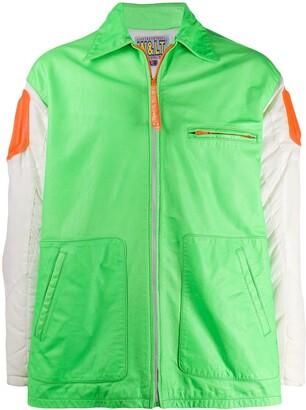 Walter Van Beirendonck Pre Owned 1995/96's Paradise Pleasure Production block colour jacket