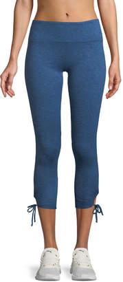 Lanston Foster Side-Tie Capri Leggings