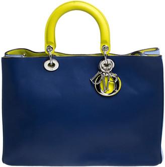 Christian Dior Multicolor Leather Large Diorissimo Shopper Tote