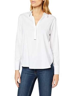 Comma Women's 85.899.11.27 Blouse, White (White 00), (Size: 36)