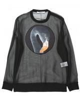 Givenchy flamingo print sheer sweatshirt