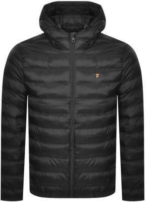 Farah Strickland Quilted Jacket Black