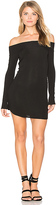 Riller & Fount x REVOLVE Jimmy Off Shoulder Dress in Black. - size 0 / XS (also in 1 / S,2 / M)
