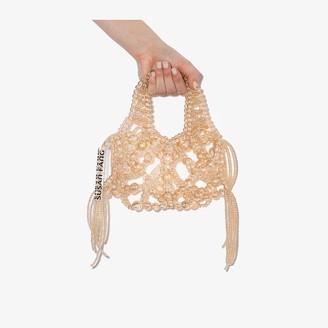 Susan Fang Yellow Bubble Tassel Handle Bag