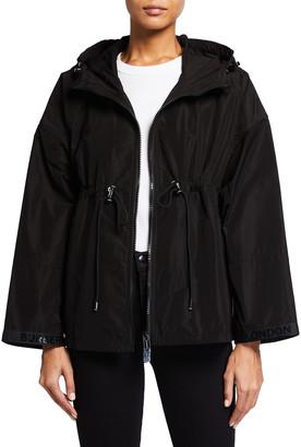 Burberry Bacton Shape-Memory Taffeta Hooded Jacket