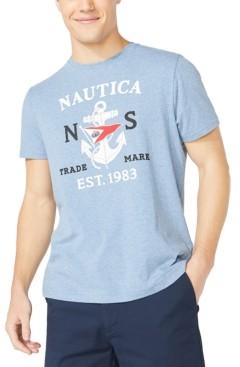 Nautica Men's Big & Tall Anchor & Flag Graphic T-Shirt