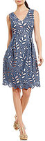 Adrianna Papell Bella Lace Fit & Flare Dress