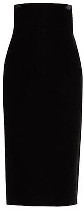 Saint Laurent High-Waist Velvet Pencil Skirt