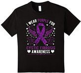 Women's I Wear Purple For Cycstic Fibrosis Awareness Support Shirt XL