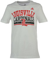 adidas Little Girls' Louisville Cardinals Collegiate Weathering T-Shirt