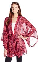 Show Me Your Mumu Women's Popsicle Python Texas Printed Kimono