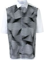 Neil Barrett zig-zag applique shirt