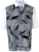 Neil Barrett zig-zag applique shirt