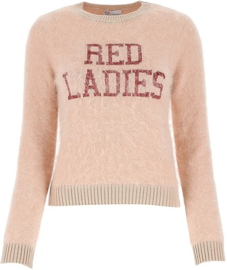 RED Valentino Red Ladies Intarsia Sweater