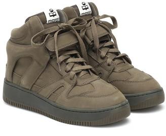Isabel Marant Brooklee suede high-top sneakers