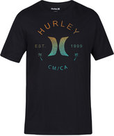 Hurley Men's Multi-Icon Graphic-Print Logo Cotton T-Shirt