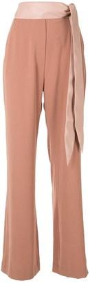 Nanushka Cecilia tie waist trousers