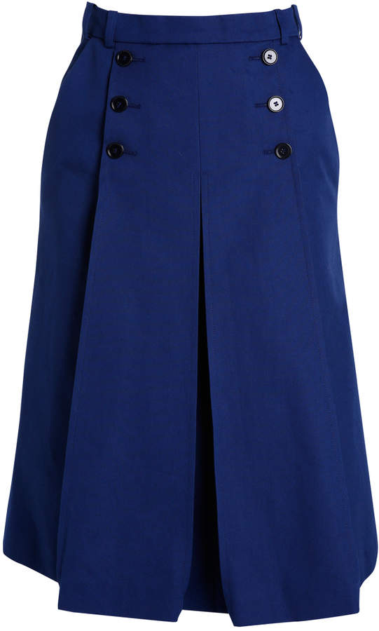 Carven A-line Midi Skirt