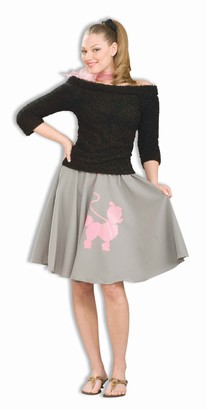 Forum Novelties Inc. Forum Flirtin' with The 50's Poodle Skirt Grey One Size