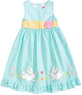Good Lad Gingham Bunny Dress, Little Girls