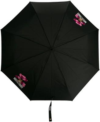 Moschino Teddy motif logo print umbrella