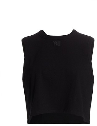 alexanderwang.t Foundation Jersey Cropped Muscle Tee