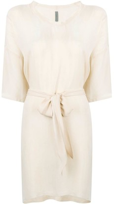 Raquel Allegra U-neck belted dress