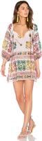 Juliet Dunn Cotton Tribal Boho Dress