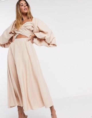 ASOS EDITION extreme sleeve linen midi dress