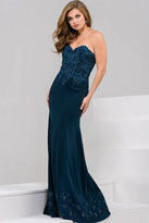 Jovani Beautiful Fit and Flare Prom Dress in Ruched Bodice 41722