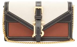 Burberry Tb Canvas And Leather Chain Strap Bag - Womens - Cream Multi