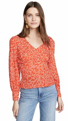 Cupcakes And Cashmere Women's Portia Printed Smocked Waist Top