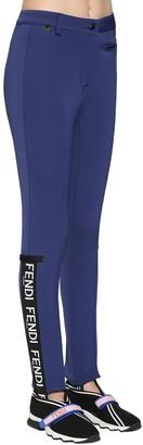 Fendi Logo Stirrup Tech & Wool Ski Pants