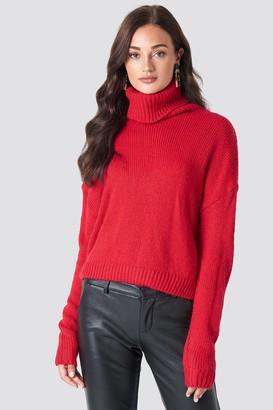 NA-KD Folded Oversize Short Knitted Sweater