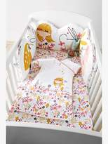 Adaptable Cot Bumper, Charming Nature Theme - pink medium solid with desig, Furniture & Bedding | Vertbaudet