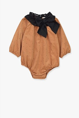 Country Road Pin Dot Cord Romper