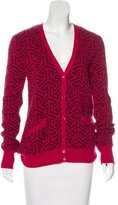Equipment Wool & Cashmere-Blend Patterned Cardigan