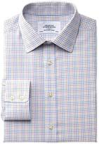 Classic Fit Non-iron Multi Check Yellow Cotton Formal Shirt Single Cuff Size 15.5/37 By Charles Tyrwhitt
