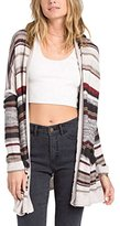 Billabong Junior's Outside Lines Stripe Lightweight Oversized Cardigan Sweater