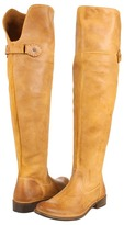Frye Shirley Over-The-Knee Riding (Tan Waxy Suede) - Footwear