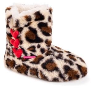 Betsey Johnson Women's Heart Slipper Booties