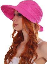 Simplicity Women UPF 50+ UV Sun Protective Convertible Beach Hat Visor