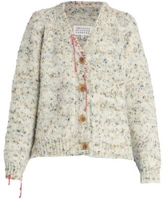 Maison Margiela Wool Cardigan with Contrast Stitch Details