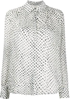 Lala Berlin Long-Sleeved Kufiya-Print Shirt