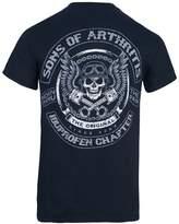 Sons of Arthritis Mens Skull & Pistons Biker T-Shirt