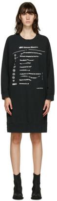 MM6 MAISON MARGIELA Black Oversized Sweater Dress
