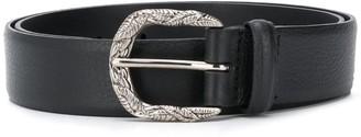 Orciani Embossed-Buckle Belt