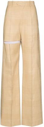 ALEKSANDRE AKHALKATSISHVILI Cutout Wide-Leg Trousers
